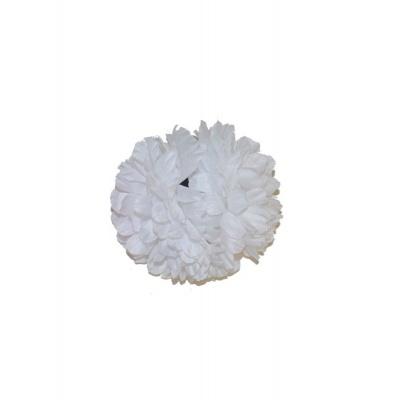 Spona květ do vlasů - bílý