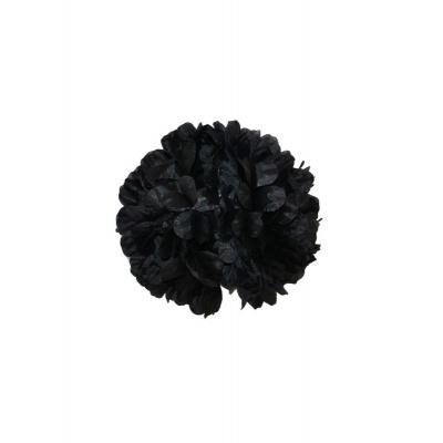 Spona květ do vlasů - černý