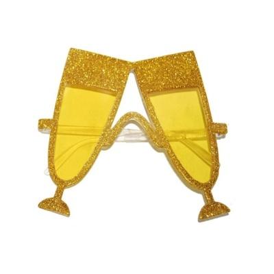Brýle skleničky - zlaté