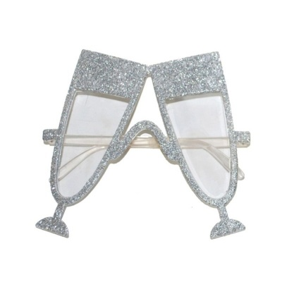 Brýle skleničky - stříbrné