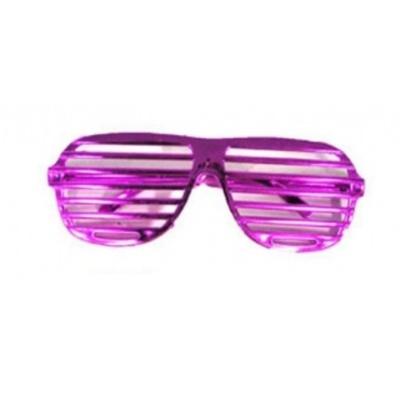 Brýle s proužky růžové