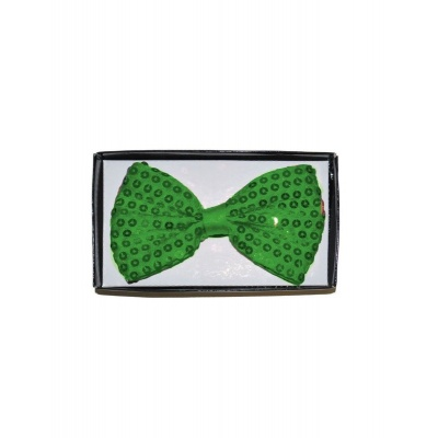 Motýlek s flitry zelený