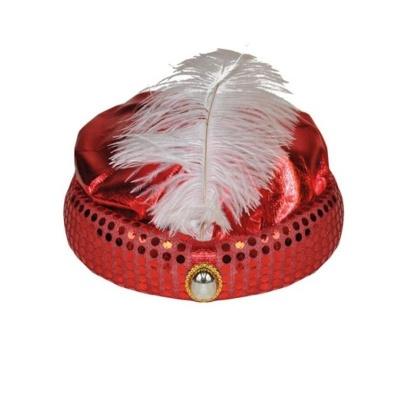 Turban červený