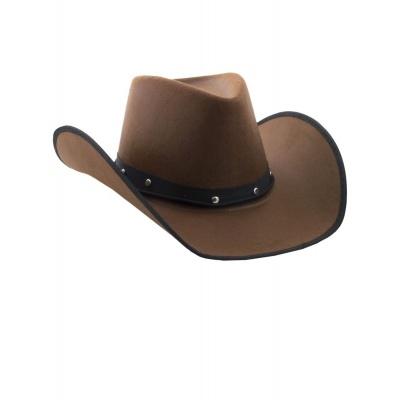 Kovbojský klobouk dospělý hnědý