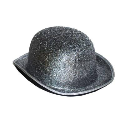 Klobouk buřinka třpytivá - stříbrná