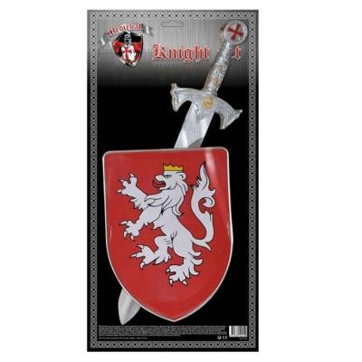 Meč a štít bílý lev - sada rytíř