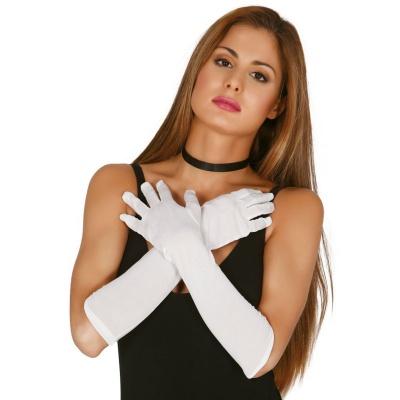 Dlouhé rukavice - bílé