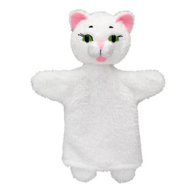 Kočička bílá 26cm maňásek
