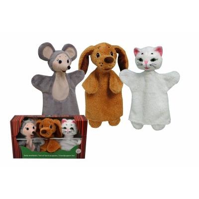 Sada maňásků Zvířátka - Pejsek, kočička a myška