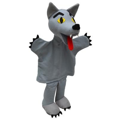 Vlk se žlutýma očima 30cm maňásek