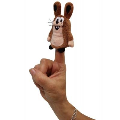 Plyšový prstový maňásek Zajíc 10cm kamarád Krtečka