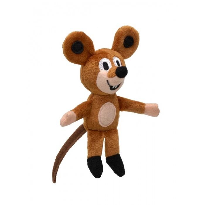 Plyšový prstový maňásek Myška 12cm kamarádka Krtečka