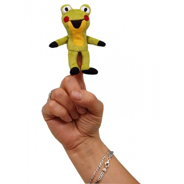 Prstový maňásek Žabka 10cm kamarádka Krtečka