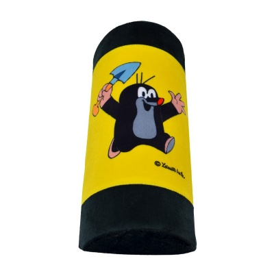Cestovní polštářek opěrka na pás Krteček - žlutá