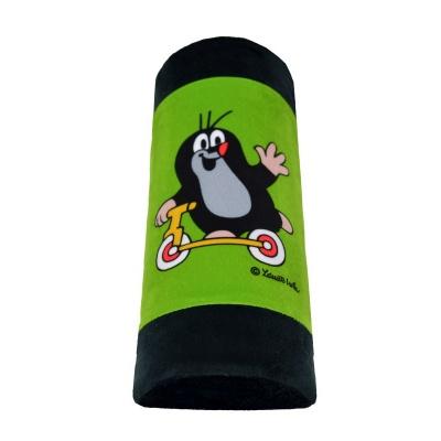 Cestovní polštářek opěrka na pás Krteček - zelená
