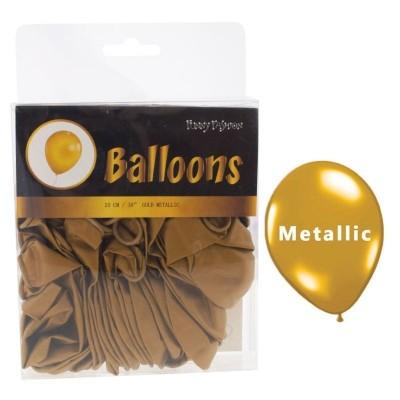 Balónky metalické zlaté - 40ks