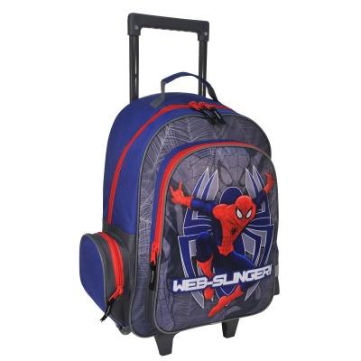 Cestovní batoh na kolečkách s vysouvací rukojetí Spiderman