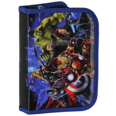 Penál s chlopní včetně vybavení Avengers