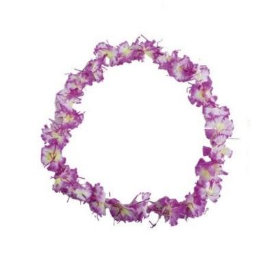 Květinový věnec květinový s fialovými třpytkami - fialový