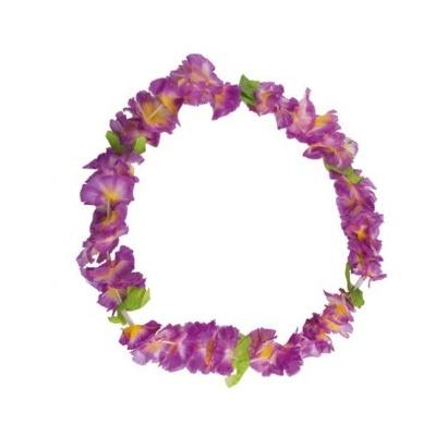 Květinový věnec s lístky - fialový
