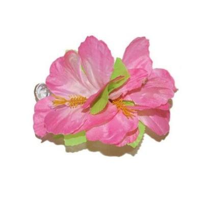 Spona havaj - růžové květy 12cm