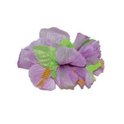 Spona havaj - fialové květy 12cm