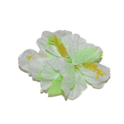 Spona havaj - bílé květy 12cm