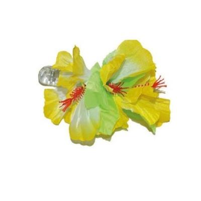 Spona havaj - žluté květy 12cm