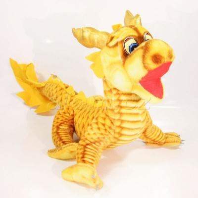 Plyšový čínský drak 50cm - oranžový