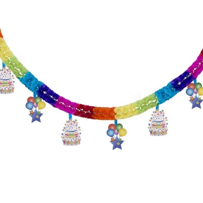 Narozeninová girlanda 4m - Happy Birthday