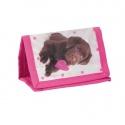 Dětská textilní peněženka růžová Pes