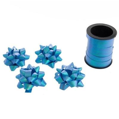 Stuha 10m a 4 mašle - modré