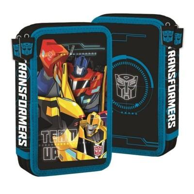 Dvoupatrové školní pouzdro penál Transformers - s vybavením