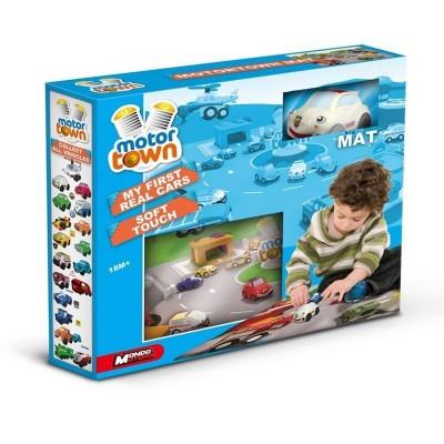 Autíčko s hrací podložkou kobercem - MotorTown Soft Touch