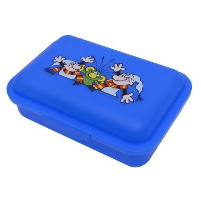 Svačinový box krabička na oběd Rákosníček, Křemílek a Vochomůrka - modrý