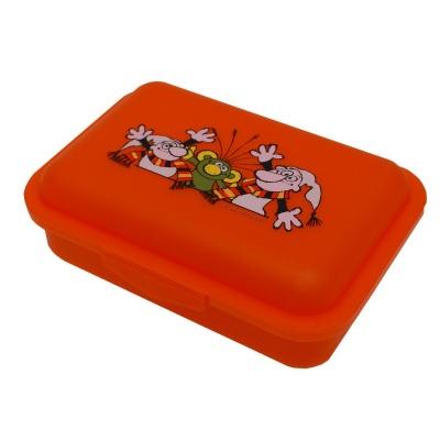 Svačinový box krabička na oběd Rákosníček, Křemílek a Vochomůrka - oranžový