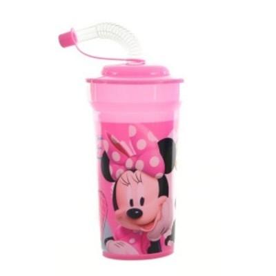 Kelímek s brčkem láhev 500ml Minnie růžová