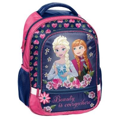 Školní batoh brašna Frozen Ledové království s květinami
