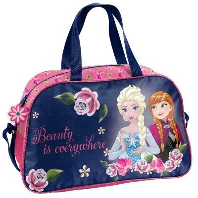 Dětská sportovní taška kabela Frozen Ledové království s květinami