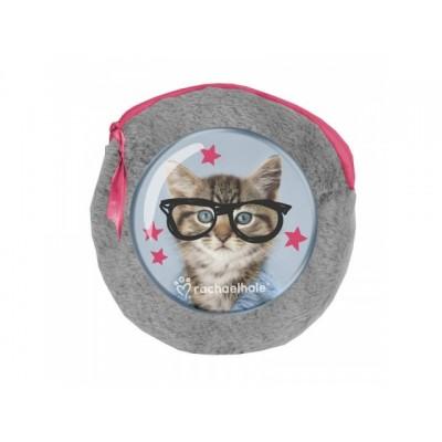 Plyšové pouzdro s notýskama Kočka Rachel Hale
