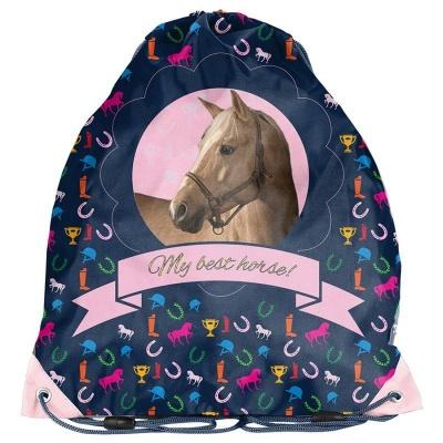 Školní pytel vak sáček fialový Kůň