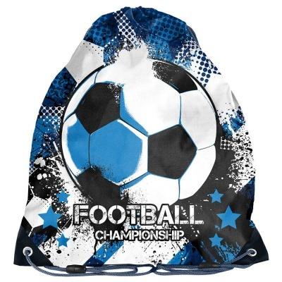 Školní pytel vak sáček modrý Fotbal