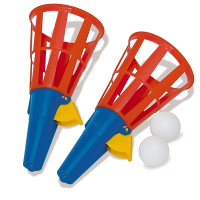 Hra vystřelovací košíky - chyť míček 2ks