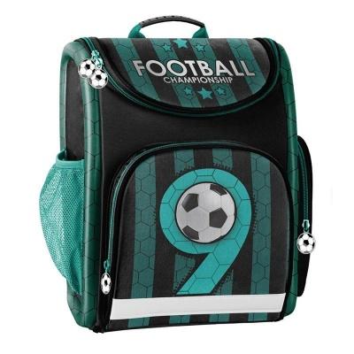 Luxusní školní batoh aktovka zelená Fotbal i pro prvňáčky