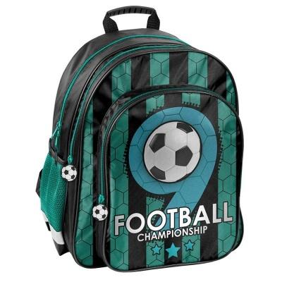Školní batoh brašna zelený Fotbal