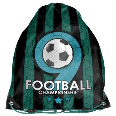 Školní pytel vak sáček zelený Fotbal