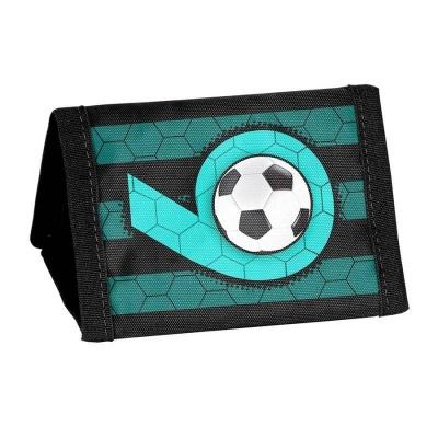 Textilní peněženka zelená Fotbal