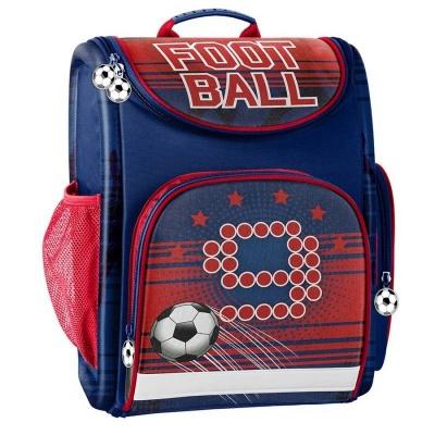 Luxusní školní batoh aktovka červená Fotbal i pro prvňáčky
