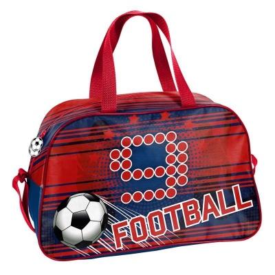 Dětská sportovní taška kabela červená Fotbal