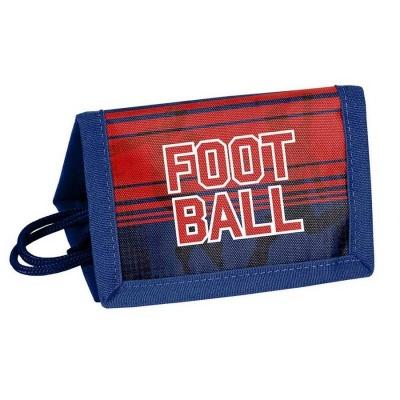 Textilní peněženka červená Fotbal